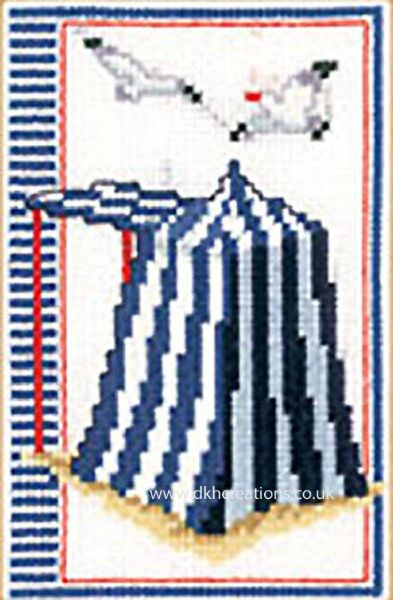 Beach Tent Cross Stitch Kit
